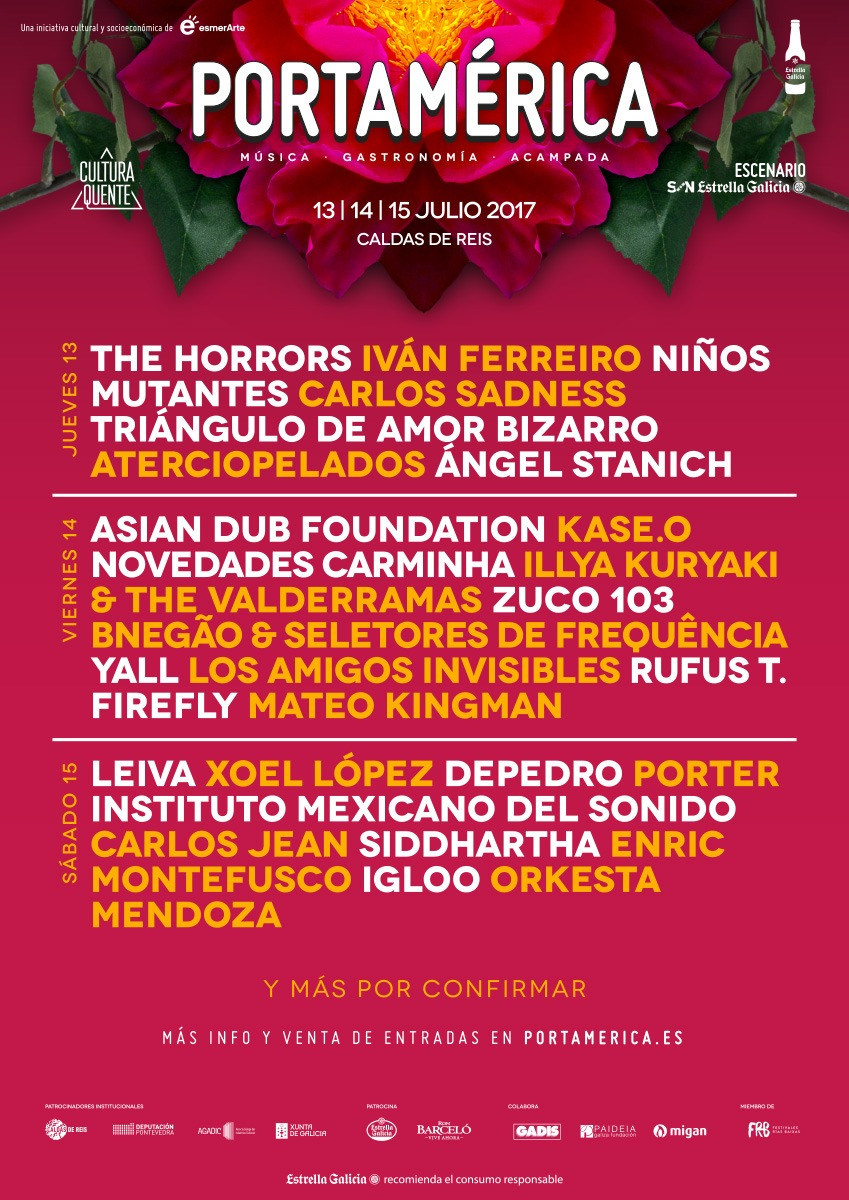 PortAmérica confirma a Leiva, The Horrors, Asian Dub Fundation o Aterciopelados, entre otros