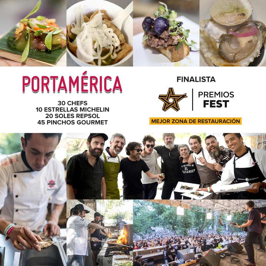 PortAmérica, finalista por 4º año consecutivo en los Premios Fest como Festival con mejor zona de restauración