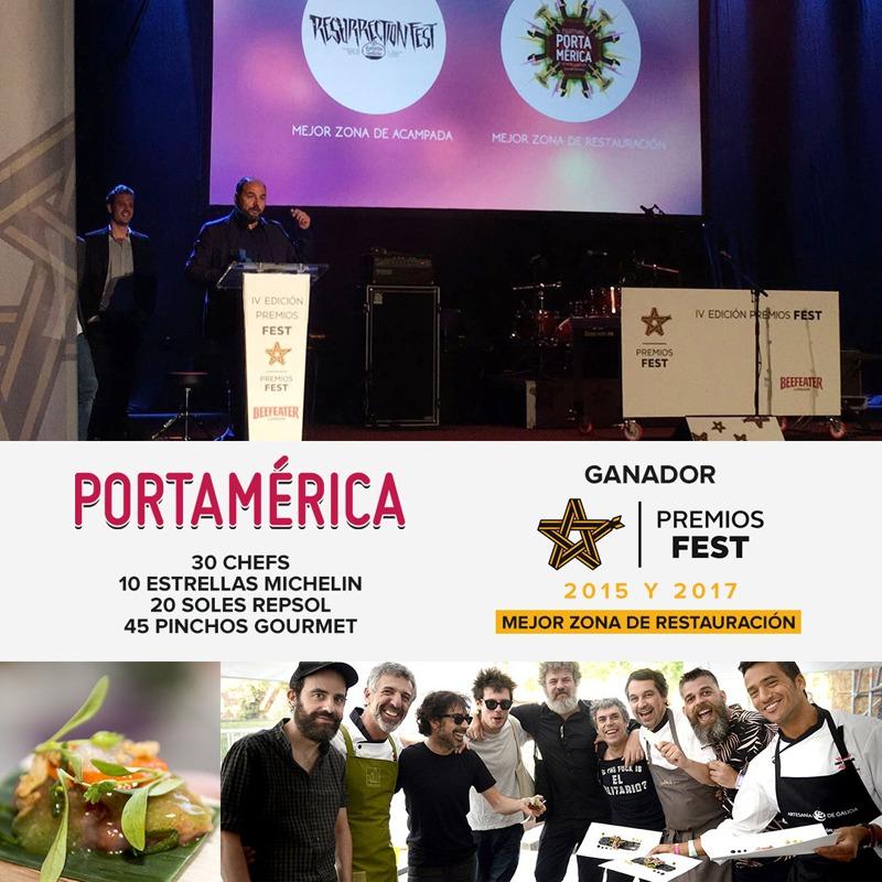 PortAmérica se hace con su 2º Premio Fest a la mejor zona de restauración