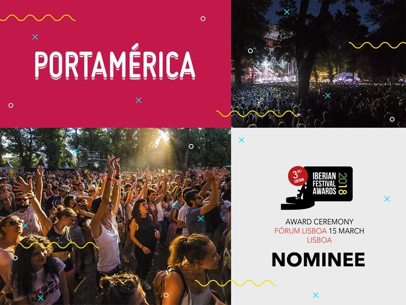 El Festival PortAmérica, nominado en 6 categorías de los Iberian Festival Awards 2018
