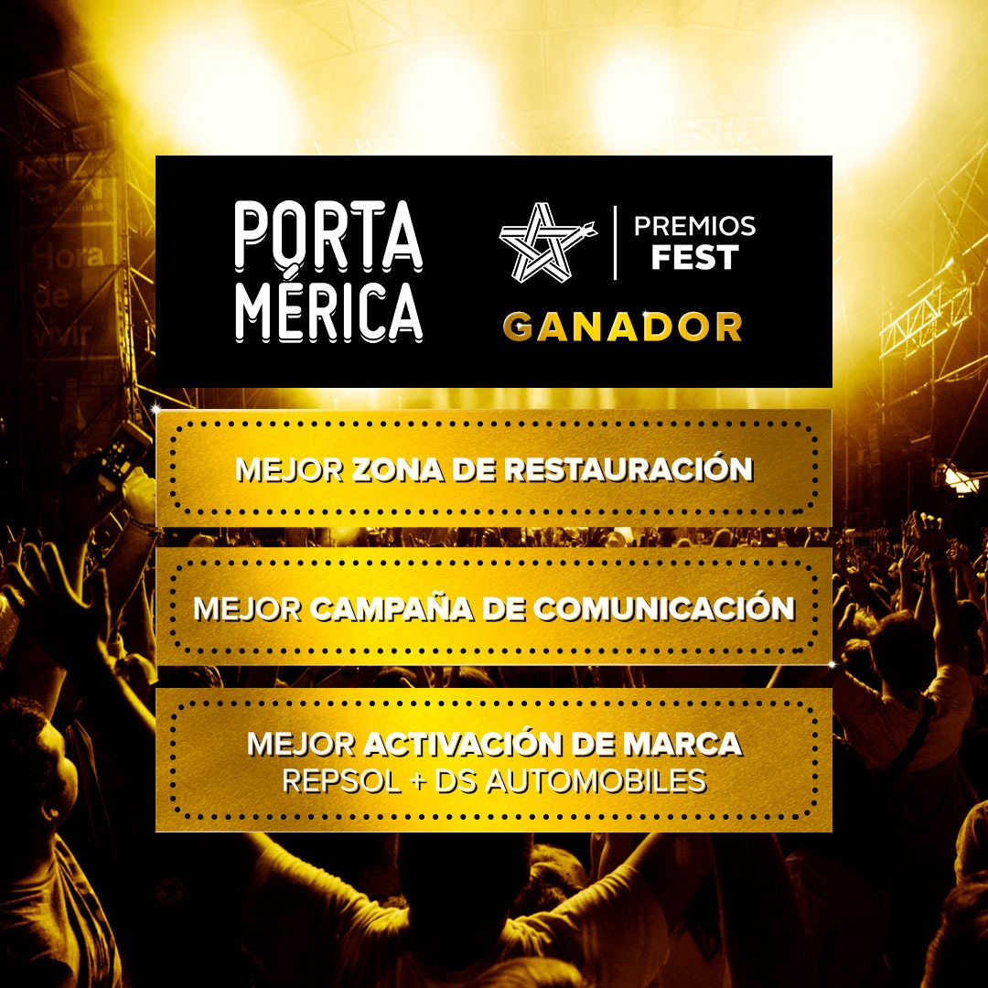 ¡PortAmérica se lleva 3 Premios Fest!