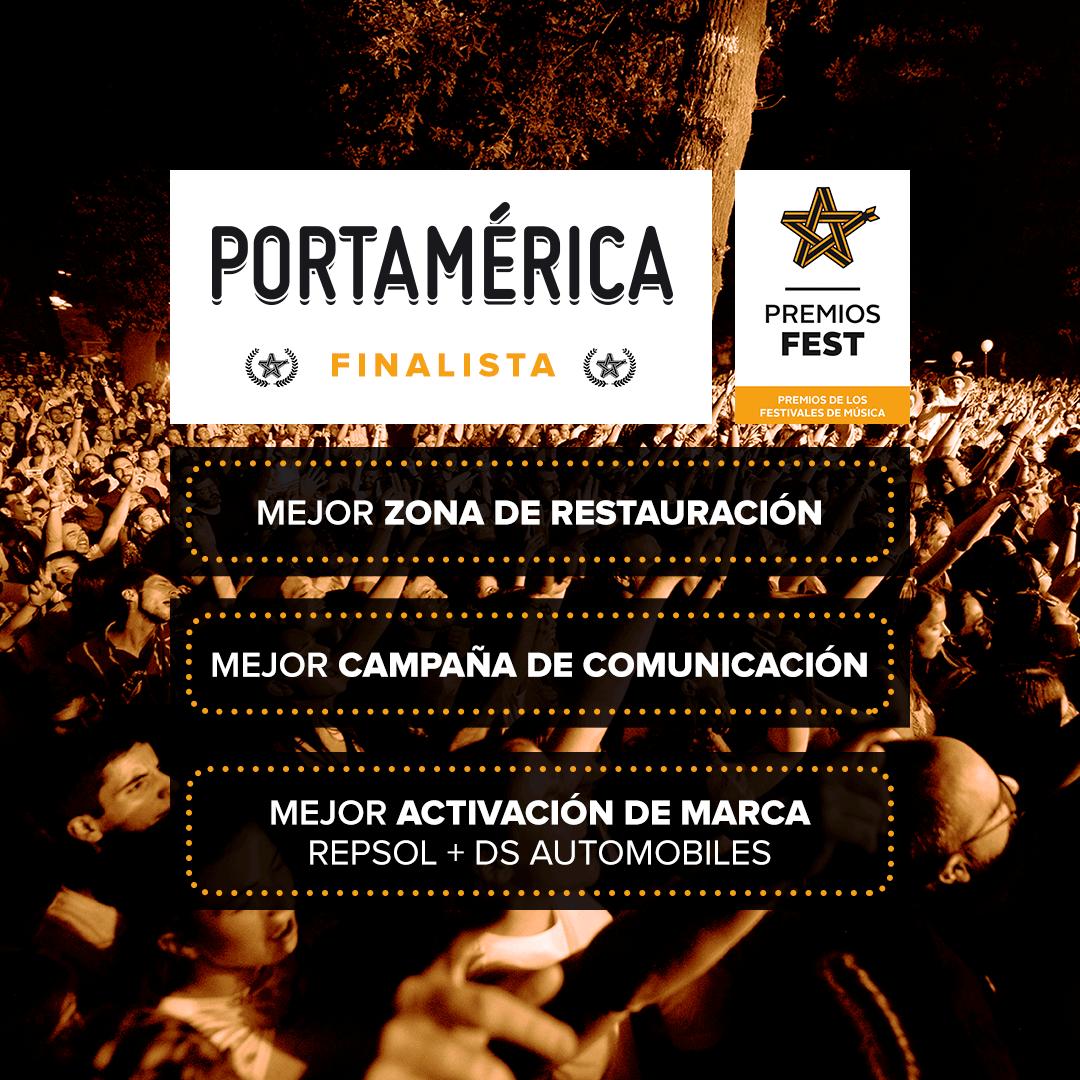 PortAmérica finalista en 3 categorías de los premios fest.