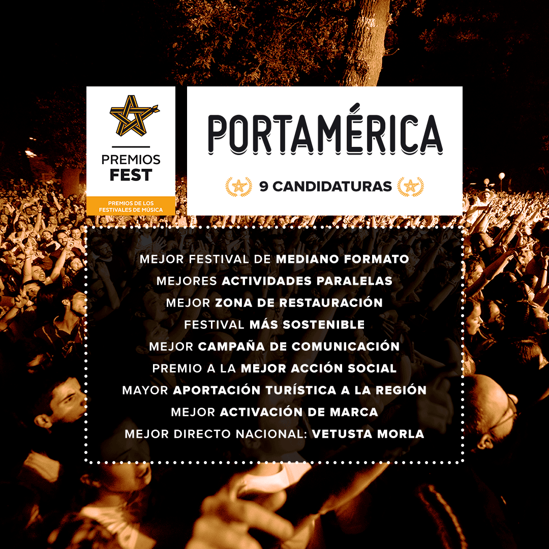 9 nominaciones para PortAmérica en la quinta edición de los Premios Fest. ¡Abierta votación!
