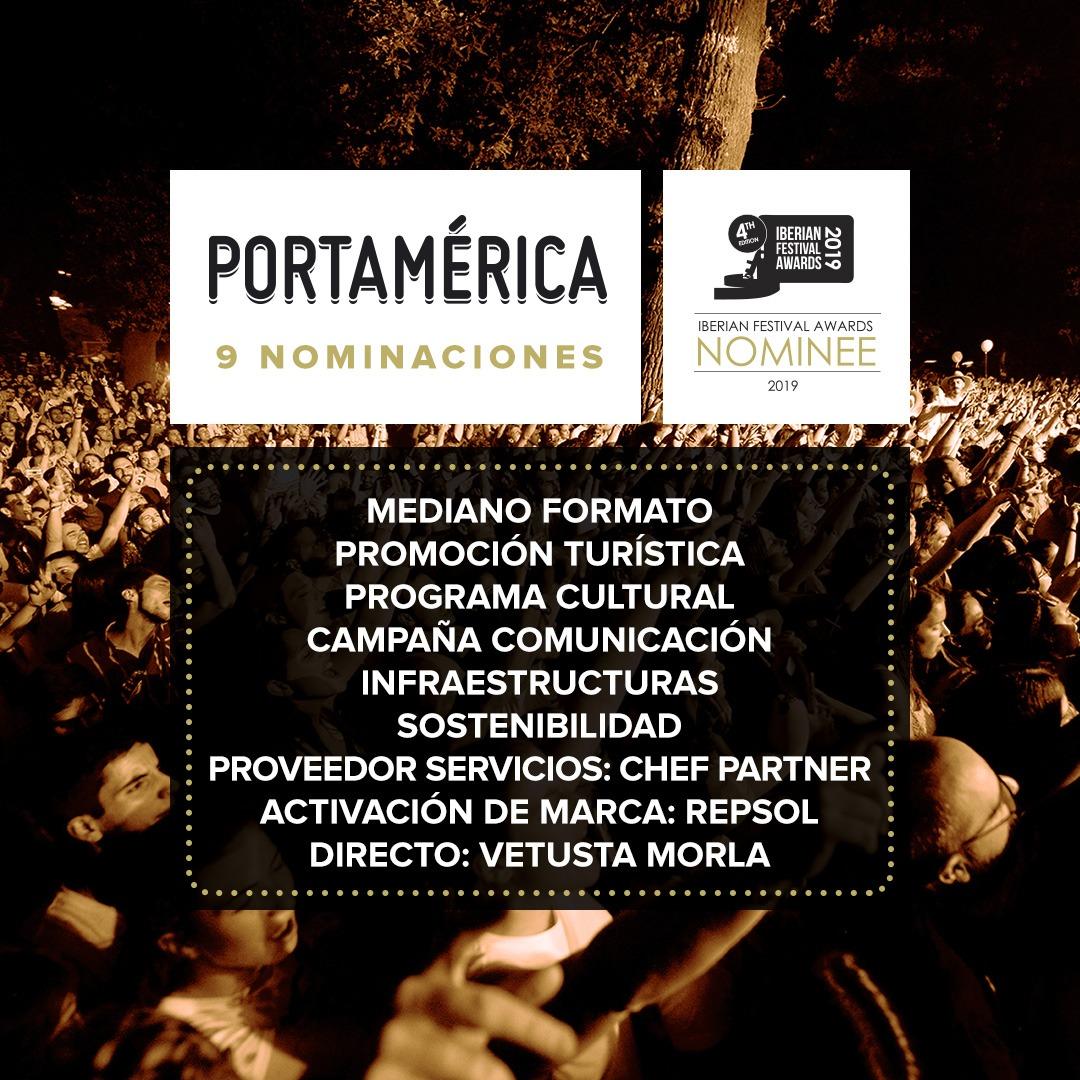 PortAmérica suma 9 nominaciones a los Iberian Festival Awards ¡Abierta votación!