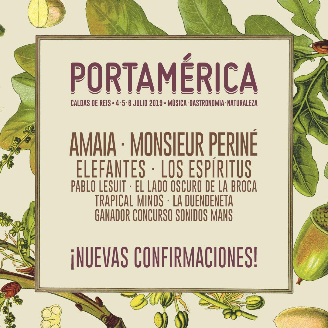 Amaia, Monsieur Periné o Elefantes, entre las 9 nuevas confirmaciones de PortAmérica 2019