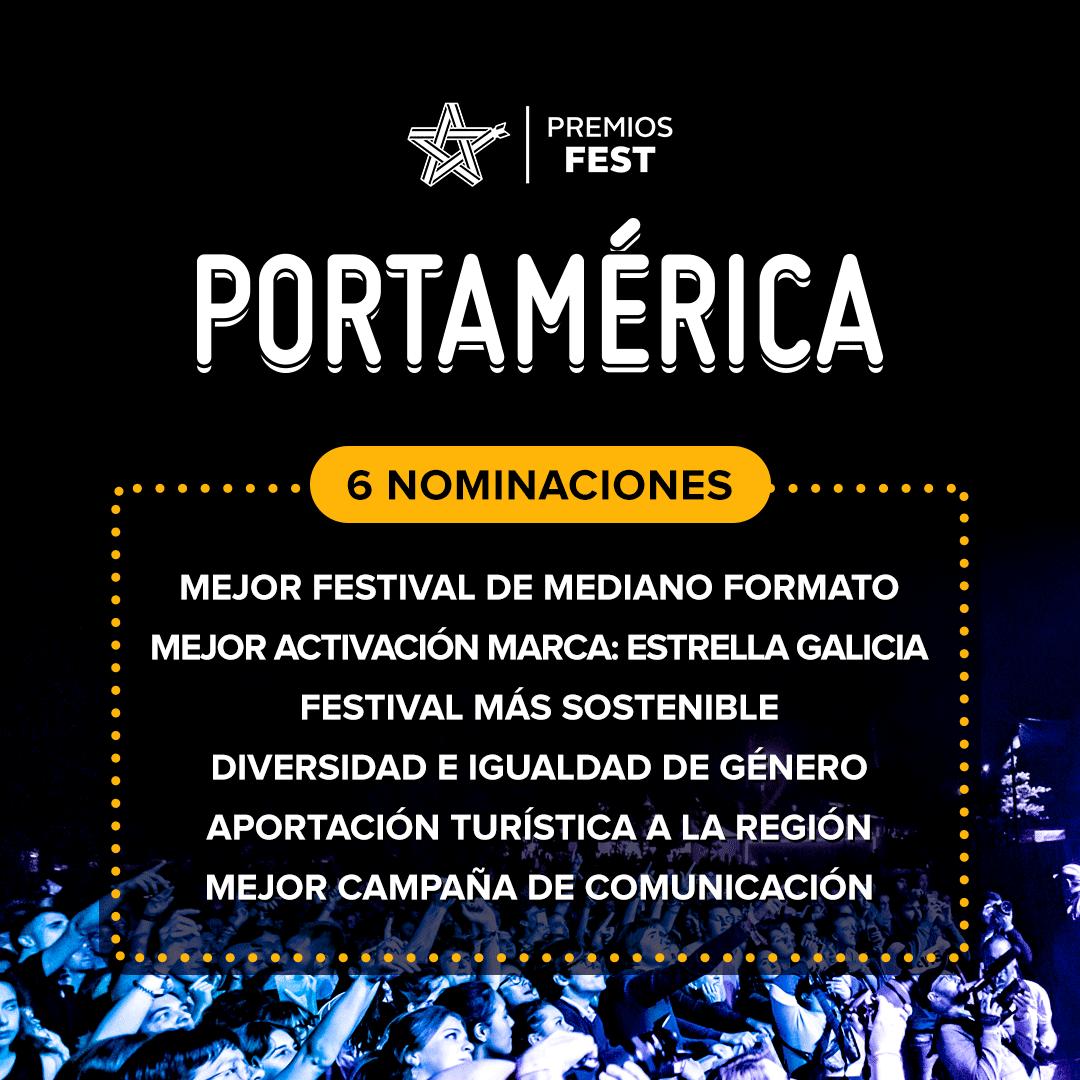 6 nominaciones para PortAmérica en los Premios Fest 2019 ¡Abierta votación!