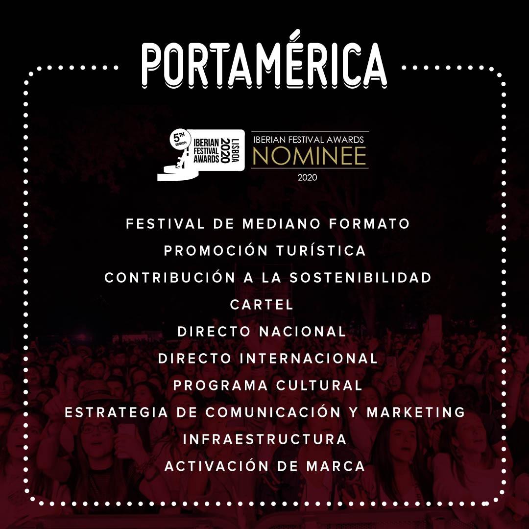 PortAmérica suma 10 nominaciones en los Iberian Festival Awards ¡abierta la votación!