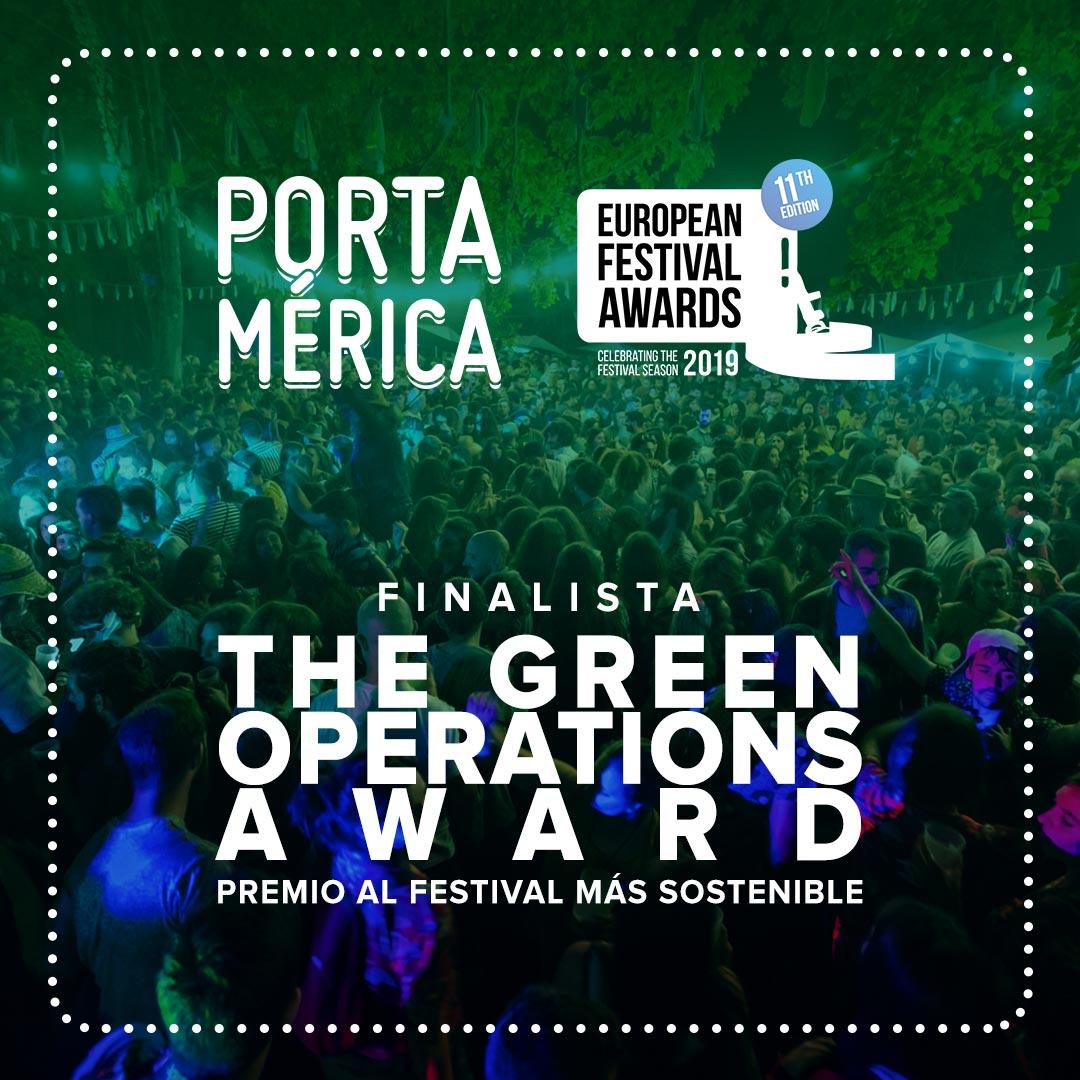 PortAmérica premio al festival más sostenible