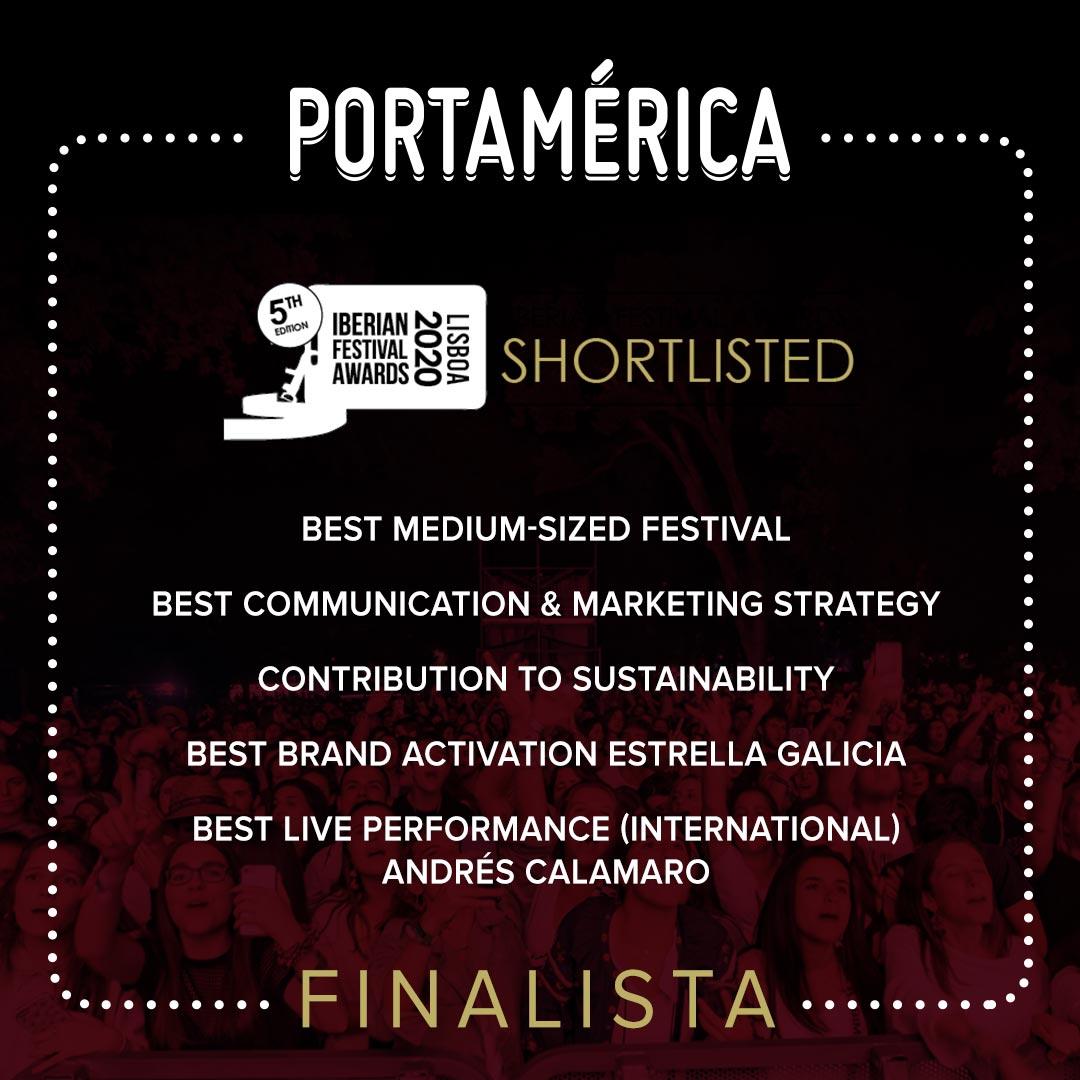 PortAmérica es finalista en 5 categorías en los Iberian Festival Awards
