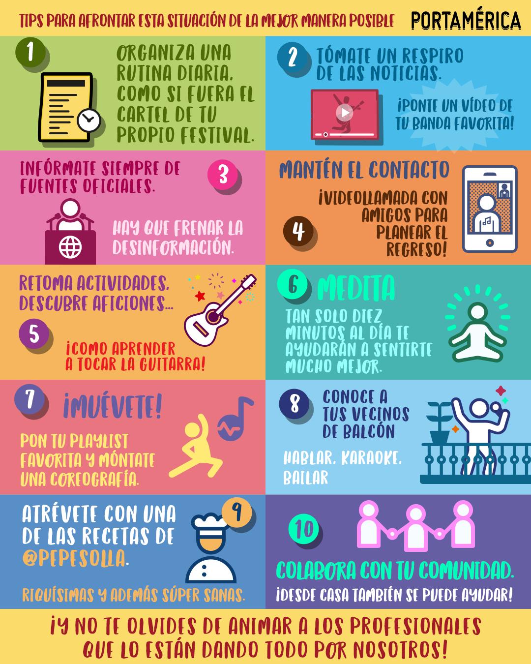 Cómo ayudar desde casa: 10 tips para mantener los ánimos durante el confinamiento
